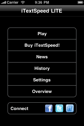 Screenshot iTextSpeed LITE